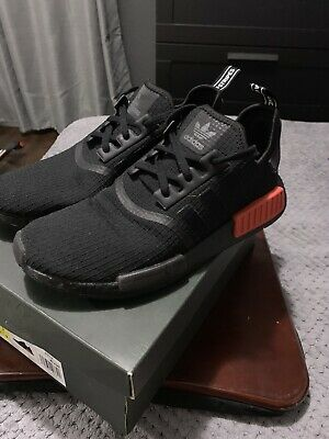 low priced e70a4 b7b51 ADIDAS NMD R1 B37618 BLACK RED Size 9.5