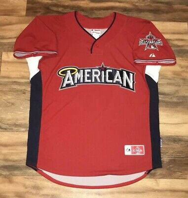 43d91efd615 2010 MLB All Star Game Majestic American League Baseball Jersey Large L  Angels