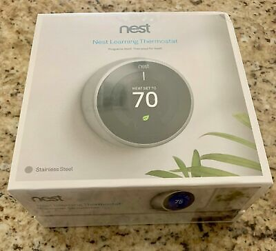 Nest T3007ES 3rd Generation Thermostat - Stainless Steel FACTORY SEALED