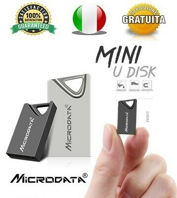Pendrive Usb 2.0 Super Mini Metallo 16gb 32gb 64gb 128gb Chiavetta FlashDrive