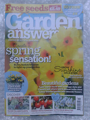 New March 2019 Issue Garden Answers Magazine... Plus Free Seeds!