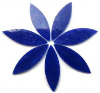 Large Dark Blue Stained Glass Petals - Mosaic Tiles Supplies Art Craft