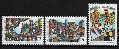 Belgium #1491-3 Mint Never Hinged Set - Folklore