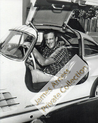 "James Arness Gunsmoke Marshal Dillon Rare ""Jim In Sportscar"" Candid 8 x 10"