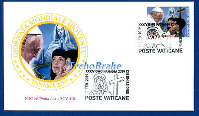FDC WORLD YOUTH DAY PANAMA 2019 VATICAN WYD First Day Cover - FILITALIA 418