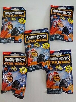 5 Angry Birds Star Wars Mystery Bags with 2 Action Figures Hasbro Rovio Series 1