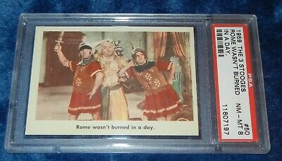 1959 Fleer THE 3 STOOGES #50 ROME WASN'T BURNED IN A DAY PSA 8 NM-MT Card