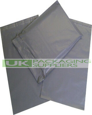 """100 GREY PLASTIC MAILING BAGS ASSORTED MIXED SMALL SIZES 4x6 9x12 10x14 12x16"""""""