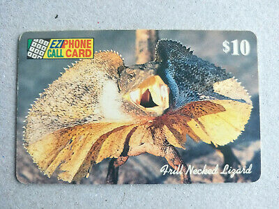 Used $10 EziPhone Frilled Neck Lizard Phonecard