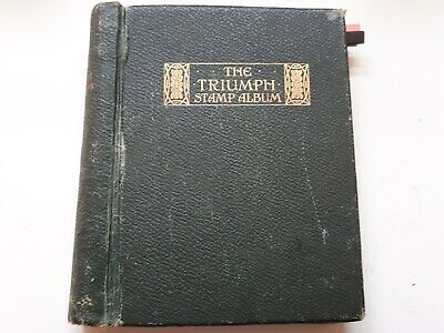 Old Triumph Stamp Album : British Colonies & World - 1475 Used Stamps.