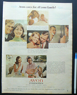 1966 vintage ad AVON Cosmetics original old advertisement make up perfume makeup