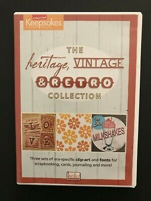 The Heritage, Vintage & Retro Collection CD - PC Clip-art & Fonts - Scrapbooking