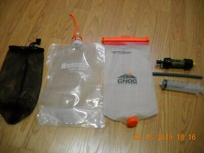 UL Hiking Kit Sawyer Mini CNOC Vecto Evernew 2L Water Filter Bags Backpack Camp