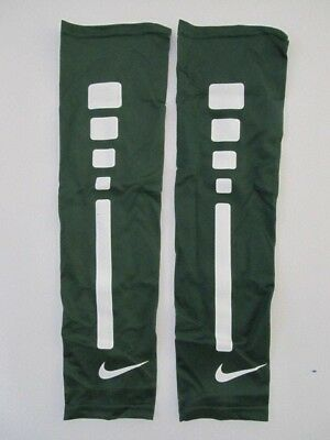 bcab71269 Nike Pro Elite Arm Sleeves Size L/XL George Green/White Basketball New