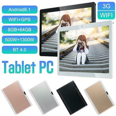 """10.1"""" Tablet Ten Core 8G+256G Android HD Wifi Bluetooth 3G Call PC Laptop Camera"""
