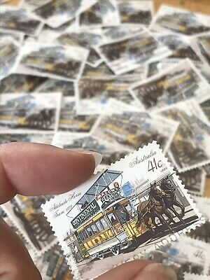 55 Horse Tram Stamps 1989 Australia Bulk Lot Collection More Items Listed