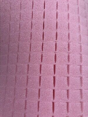 "Pick and Pluck Foam PINK Anti Static Sheet 12"" X 13"" X 1"" with 1/2"" pull grid."