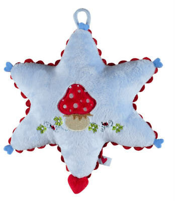 Lovely Plush Music Box Musical Baby Toy Blue Star Toadstool Nursery Cot Lullaby