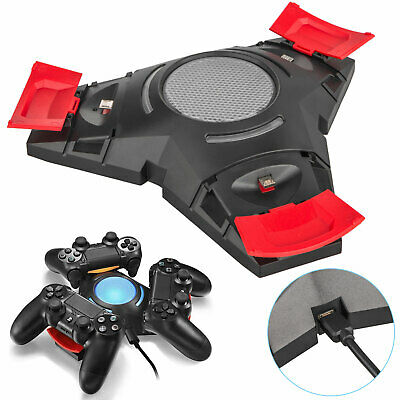Charger Station Stand Dual Shock 3 USB Charging Dock for PS4 3 Controller Gampad