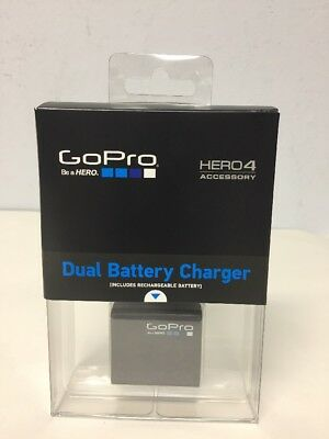 GoPro Official Dual Battery Charger + Battery for HERO4 Accessory Black/ Silver