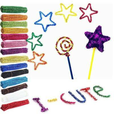 100pcs Chenille Stems Pipe Cleaners Kid Craft Educational Toys Twist Rods Craft
