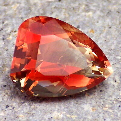 RED-PEACH OREGON SUNSTONE 7.30Ct CLARITY SI2-LARGE-TOP COLLECTOR / JEWELRY GRADE