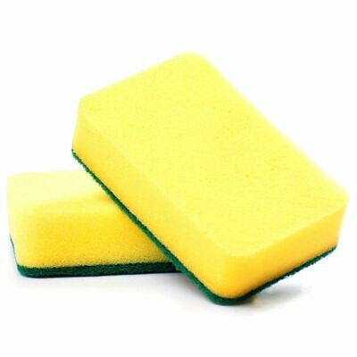 2X(Kitchen sponge scratch free, great cleaning scourer (included pack of 1 N4Y8)