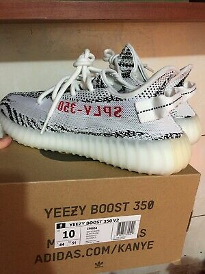 buy popular b3b39 d61d6 ADIDAS YEEZY BOOST 350 V2 Zebra CP9654 White Core Black Red Size 10