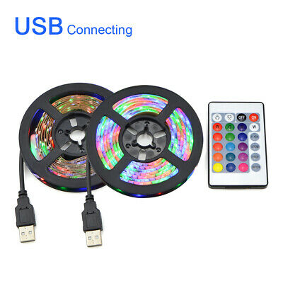 Waterproof 5V USB LED Strip Light RGB 5050 TV Back Lamp Colour Changing + Remote