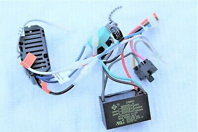 hunter ceiling fan parts wiring harness(capacitor rev sw power Ceiling Fan Pull Switch Wiring