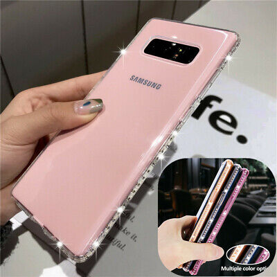 For Samsung Galaxy S10e S9 S8 S10+ Bling Diamond Bumper Silicone Soft Case Cover