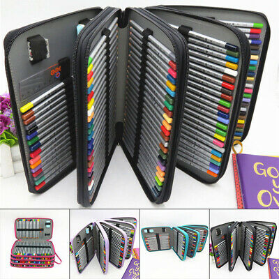 150 Slots Colored Pencils Universal Pencil Bag Pen Case School Stationery P F2K8