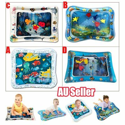 Inflatable Fun Water Play Mat for Kids Baby Children Infants Best Tummy Time ccc