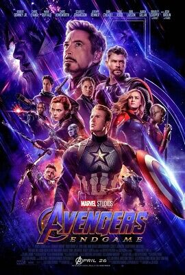 "Avengers: End Game Movie Vinyl Poster Thanos Infinity Stones 12""x18"" Marvel Stan"