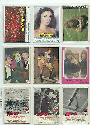 Scanlens Samurai Batman Abba Others - Trading Card LOT of 9 - See Scans