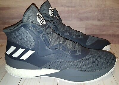 577d6c36ac5a NEW Adidas D Rose 8 Basketball Shoes Mens SIZE 19 Grey White CQ1620 Derrick  Rose