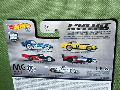 2018 Hot Wheels FORD MAZDA  CORVETTE SHELBY PORSCHE CIRCUIT LEGENDS Real Riders