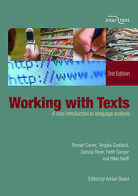Working with Texts: A Core Introduction to Language Analysis by Nikki Swift...