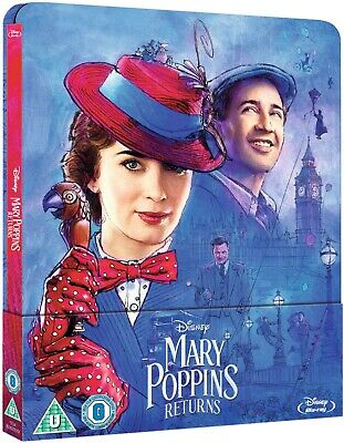 Mary Poppins Returns (Bluray) Limited Edition Steelbook PRE ORDER