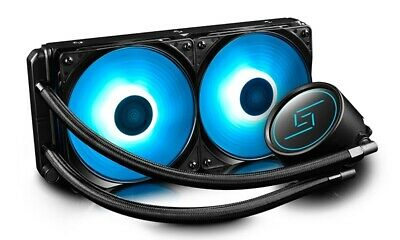 New  Deepcool Gammaxx L240 Rgb Led Liquid Cooler, Pwm Control, Super Silent