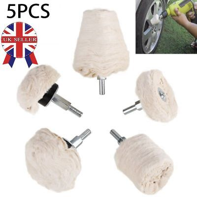 5pc Polishing Buffing Pad Mop Wheel Drill Pads Kit Manifold Aluminum Stainless