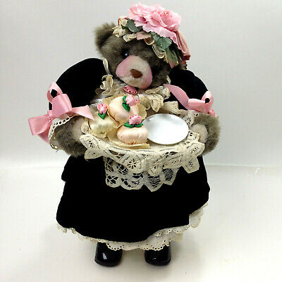 Vintage 1970's Rare Apple Whimsey's Downstairs Butler With Cakes Bear Doll