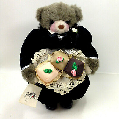 Vintage 1971 Rare Apple Whimsey's Downstairs Butler With Cupcakes Bear Doll