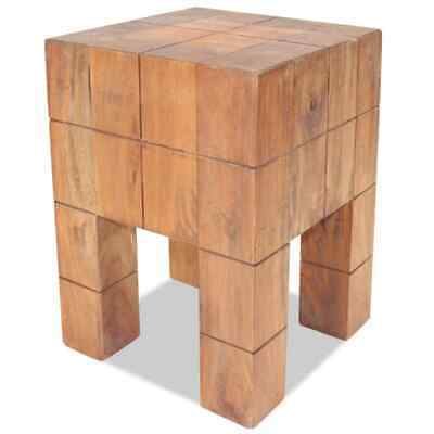 Handmade Stool Solid Reclaimed Wood Dining Room Wooden Furniture 28x28x40cm UK