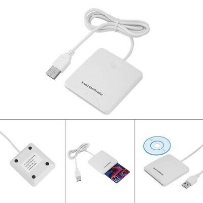 USB Contact Smart Chip Card Credit Cards Reader Encoder Writer With SIM Slot AU
