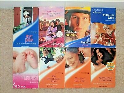 JOB LOT MILLS and Boon Romance Novels x 8 Collection Classic Fiction