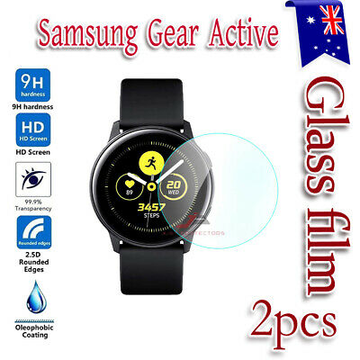 2x Samsung Galaxy Gear Active Watch Full Tempered Glass Screen Protector Guard