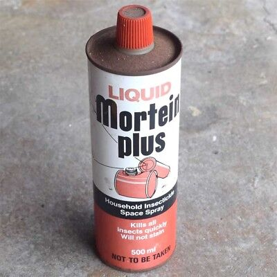 Vintage Mortein Plus Fly Killer Insecticide Tin Container