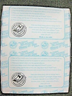 Ez Mount Static cling mounting foam 8.5 inches x 11 inches FREE POSTAGE