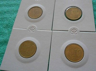 EUROPE 10 EURO CENTS x 4